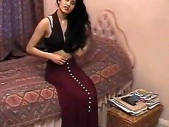 英国的印度女孩谢花装复古艳
