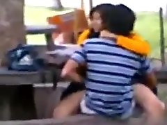 Paki indian public hump on bench
