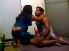 Desi Indian Wife Three sum with Husband and His