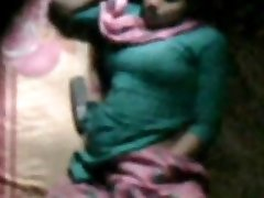 barishal female happy draining in her bed seen by neighbor