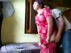 Indian couple enjoying in a motel room
