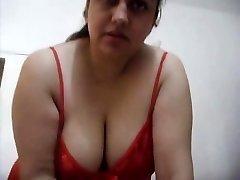 Horny Bhabhi in Red Inhaling