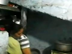 Indian Bhabhi penetrate in the kitchen