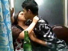 Indian Desi mind-blowing lady in churidar