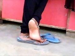 坦率的印度脚脚shoeplay在嗑