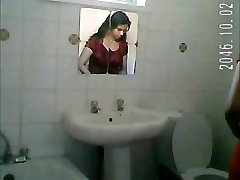 Indian girl bathroom spy