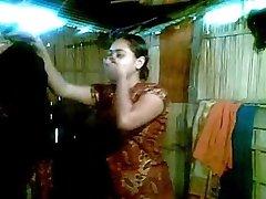 Sexy Desi Bhabhi Goes Nude First Shy to Show