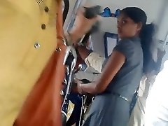 Sri lankan Ultra-cute office girl bootie in bus