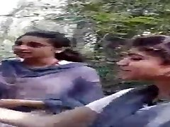 Desi All Girl Nymphs Smoking in Jungle