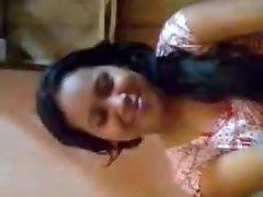 Desi Woman Mounds Pressed By Boyfriend