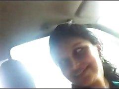 Desi Office Girlfriend with Boss in van
