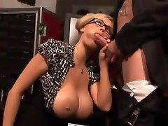 Big tit milf wearing glasses