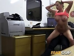 Faux Cop Hot gym MILF pulled over and drilled