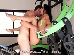 PureMature After gym exercise anal screw with mature Shalina Devine