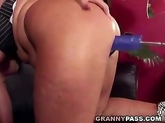 Granny Buttfuck Fucking Machine