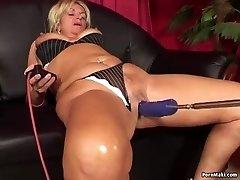 Granny having anal fucky-fucky with humping machine