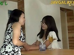 Mature Japanese Bitch and Young Teenie Chick