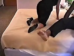 Hot Mature In Sexy High Heels Smashes BIG BLACK COCK