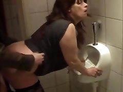 German mature smashed in shower