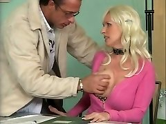 Huge-chested German Mature Poking in Office