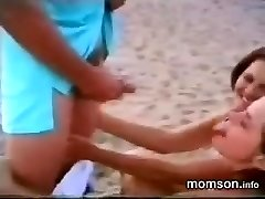 sonny having fun with his sister and mother on the beach