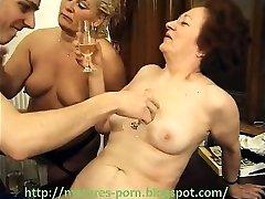 Grandmothers hairy vulva and boy