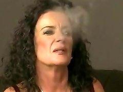 Mature smoking and a youthfull damsel