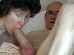 Grandpa's hefty prick, attractive mature swallows it