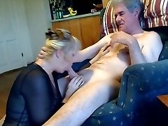 61 yo Grandma blowing Grandpa