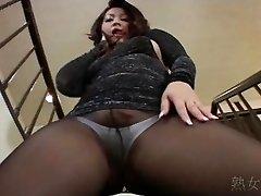 Yuuka Fujisaki Tights Upskirt