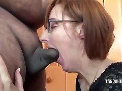 Sexually Excited housewife Layla Redd is blowing a fellow she just met