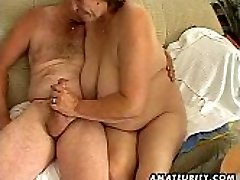 Obese mature amateur wife sucks and ravages
