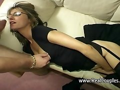Wife moans noisily while fucked in arse