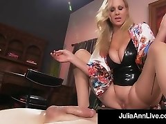 Boy Toy Gets Smothered By Glamorous Cougar Julia Ann's Pussy!