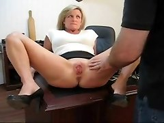 Caught toying with her poon punishment for his secretary