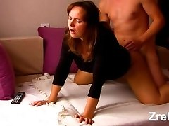 Mature mommy milf with big sexy butt hard anal invasion. Boss and secretary