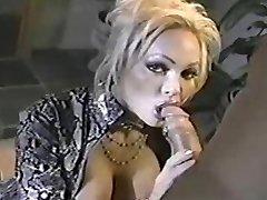 Classic MILF Houston deep throating cock!