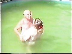 Elderly couple having Orgy in The Pool Part 1 Wear Tweed