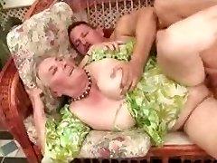 Ancient Granny Luvs Fuck-a-thon Poolside