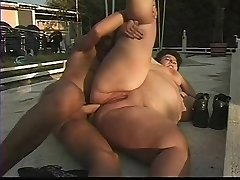 Mature BBW Ass Plowed by the Pool