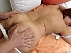 Granny got drilled after massage - Red Mary