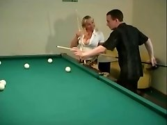 Big Bap Mature Penetrated over a game of Pool