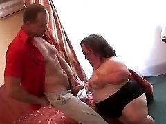 Ugly Mature BBW Midget Sucks Fucks and Facialed