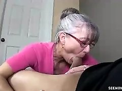 Mom Litterally Salivates To The Young Firm Cock