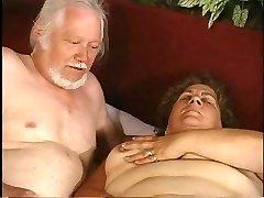 grandma and grandpa - both milking