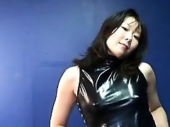 Japanese mature whore getting real randy on her own