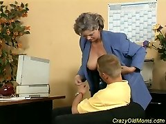 Crazy aged mom gets cock fucked and office dt sex
