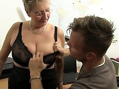 HARDCORE OMAS - Filthy Germany granny takes dick at the office