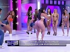Brazil TV Display (the girl in the red thong.. omg)