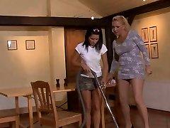 Mummy seduces her son-in-law's girlfriend